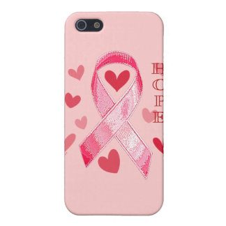 PINK RIBBON HOPE COVER FOR iPhone SE/5/5s