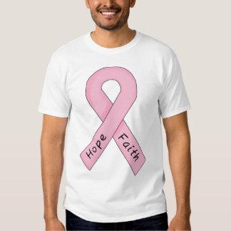 Pink Ribbon Hope Faith T Shirt