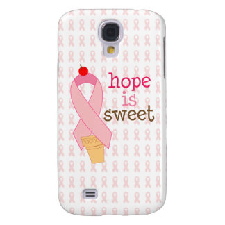 pink ribbon hope is sweet case samsung galaxy s4 case