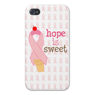 pink ribbon hope is sweet case iPhone 4 covers