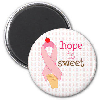 pink ribbon hope is sweet magnet