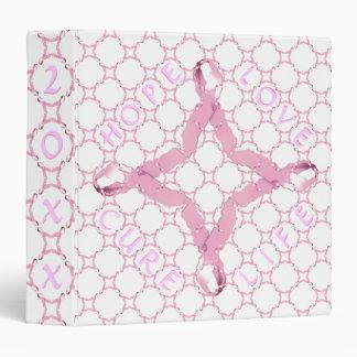 Pink Ribbon HOPE LOVE CURE LIFE 3 Ring Binder