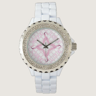Pink Ribbon HOPE LOVE CURE LIFE Wrist Watch