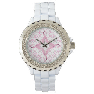 Pink Ribbon HOPE LOVE CURE LIFE Wristwatch