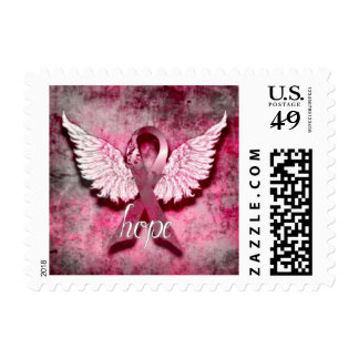 Pink Ribbon Hope stamp by Vetro Designs