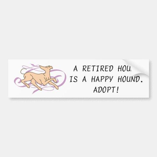 Pink Ribbon Hound Bumper Sticker