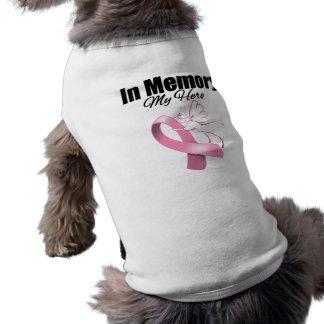 Pink Ribbon In Memory of My Hero Doggie T Shirt