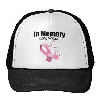 Pink Ribbon In Memory of My Hero Trucker Hat