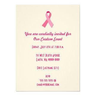 Pink Ribbon 5.5x7.5 Paper Invitation Card