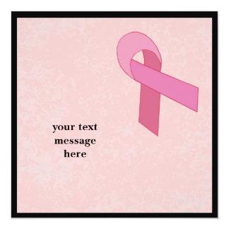 pink ribbon invitation to customize