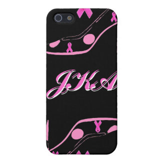 Pink Ribbon iPhone with Monogram Cover For iPhone 5