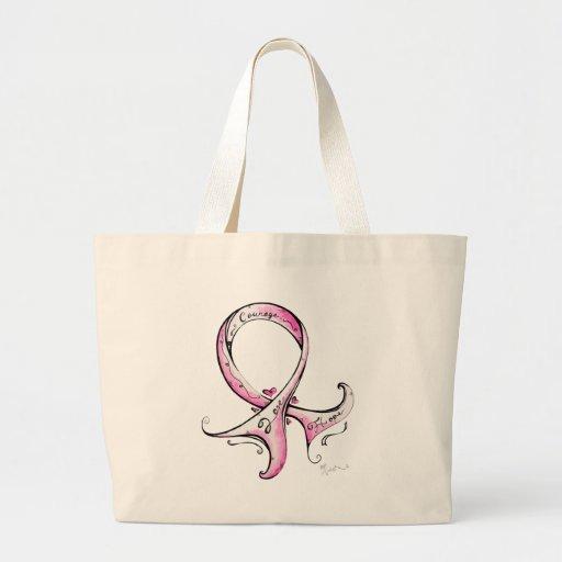 Pink Ribbon Jumbo Tote Bag