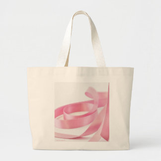 Pink Ribbon Large Tote Bag