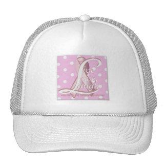 Pink Ribbon Live Love Laugh Cap-Cust. Hats