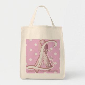 Pink Ribbon Live Love Laugh Tote Bag