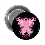 Pink Ribbon Love 2 Inch Round Button