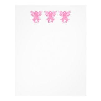 Pink Ribbon Love Customized Letterhead