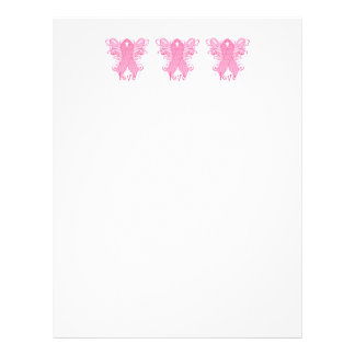 Pink Ribbon Love Letterhead