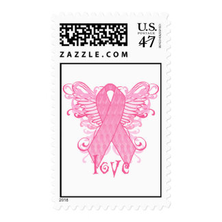 Pink Ribbon Love Stamps