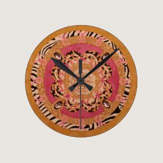 Pink Ribbon Mandala Clock: Breast Cancer Round Clock