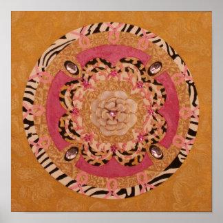 Pink Ribbon Mandala: Inspirational Poster