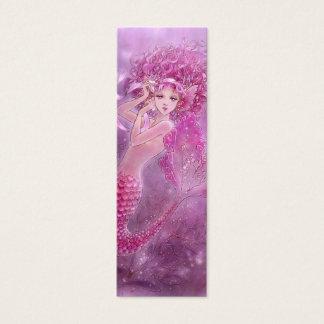 Pink Ribbon Mermaid Bookmark Mini Business Card
