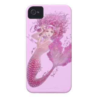 Pink Ribbon Mermaid iPhone 4/4S Case