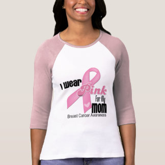Pink Ribbon Mom Breast Cancer T Shirts