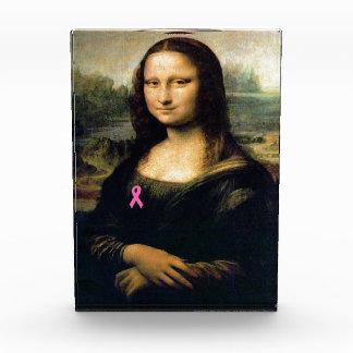 Pink Ribbon Mona Lisa Acrylic Award