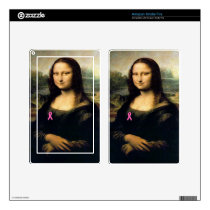 Pink Ribbon Mona Lisa Kindle Fire Skin