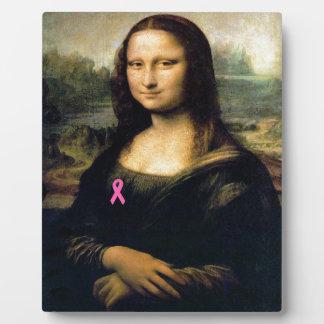 Pink Ribbon Mona Lisa Plaque