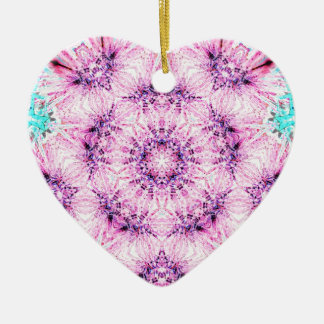Pink Ribbon Nov 2012 Double-Sided Heart Ceramic Christmas Ornament
