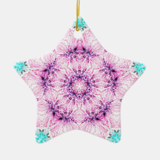 Pink Ribbon Nov 2012 Double-Sided Star Ceramic Christmas Ornament