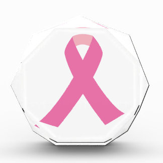 Pink ribbon of breast cancer awareness award