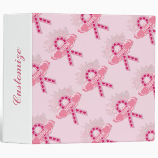 Pink Ribbon Of Hope Pink Binder