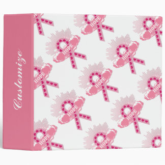 Pink Ribbon Of Hope White Binder