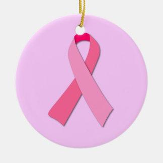 Pink Ribbon Christmas Ornaments