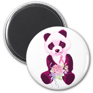 Pink Ribbon Panda Bear Magnet