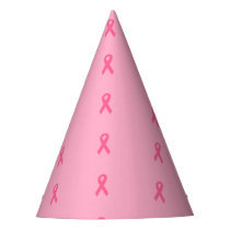 """Pink Ribbon"" Paper Hats"