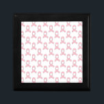 "Pink Ribbon Pattern Keepsake Box<br><div class=""desc"">A simple pink ribbon pattern. Symbol of awareness. A design for a cause.</div>"