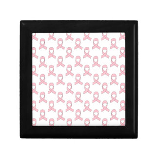 Pink Ribbon Pattern Keepsake Box