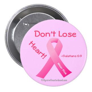 Pink Ribbon Pinback Button