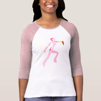 Pink Ribbon Pitcher Jersey Style Women's T-shirt