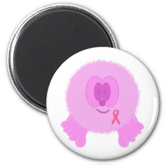 Pink Ribbon Pom Pom Pal Magnet