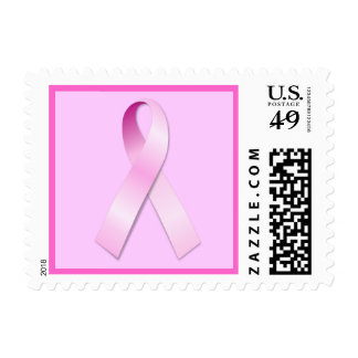 Pink Ribbon Stamp