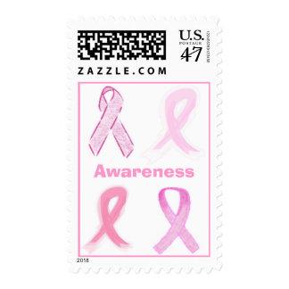 Pink Ribbon Postage Stamp