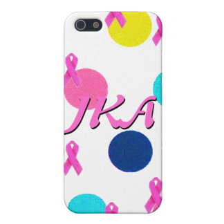 Pink Ribbon Pretty Polka Dots Cover For iPhone SE/5/5s