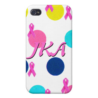 Pink Ribbon Pretty Polka Dots iPhone 4 Cases