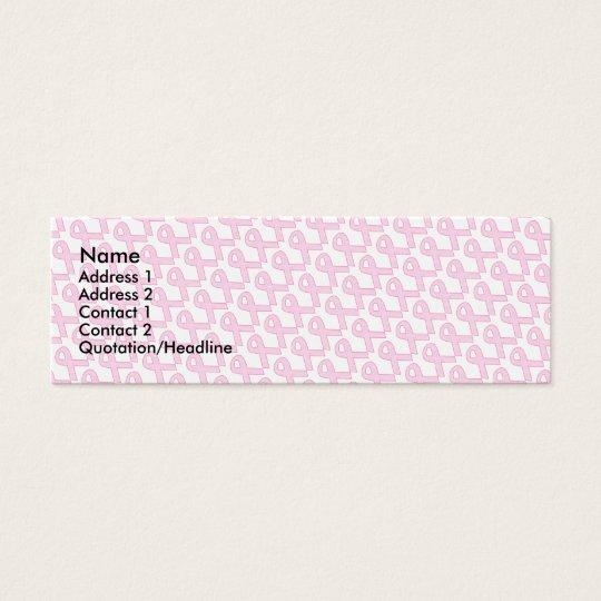 Pink Ribbon Profile Card