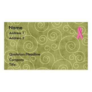 Pink Ribbon Profile Card U Customize Business Card Template